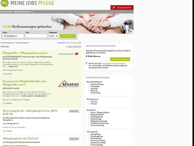 Stellenangebote Alltagsbegleiter Jobs, Jobbörse | meinejobs-pflege.de
