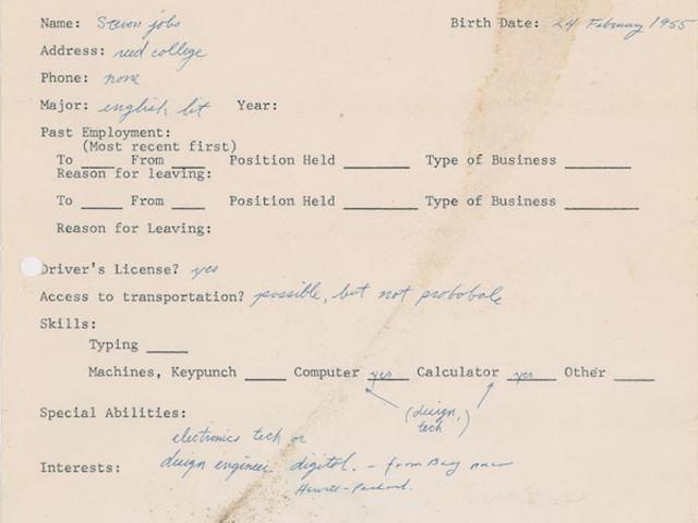 """Drei Dokumente mit """"Steve Jobs Unterschrift"""" gehen in die Auktion"""