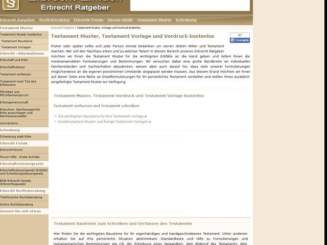 testament muster vorlage und vordruck testament verfassen - Testament Muster Kostenlos