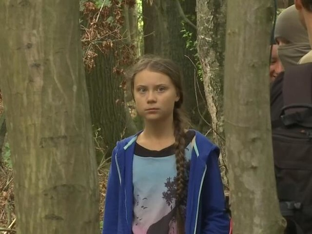 Greta Thunberg im Hambacher Forst