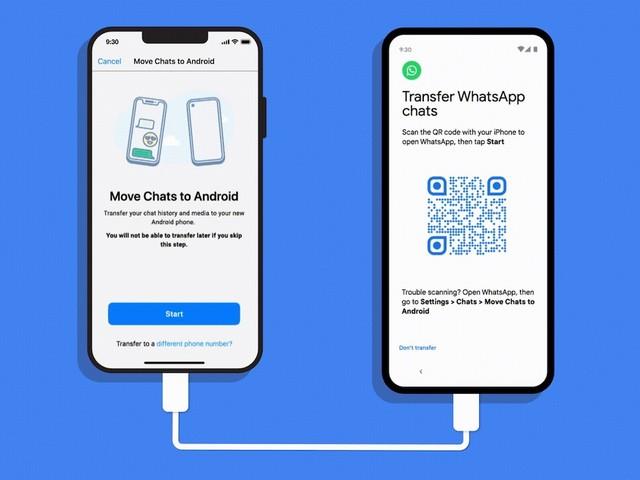 WhatsApp: Chat-Übertragung von iPhone zu Android 12 Geräten jetzt möglich