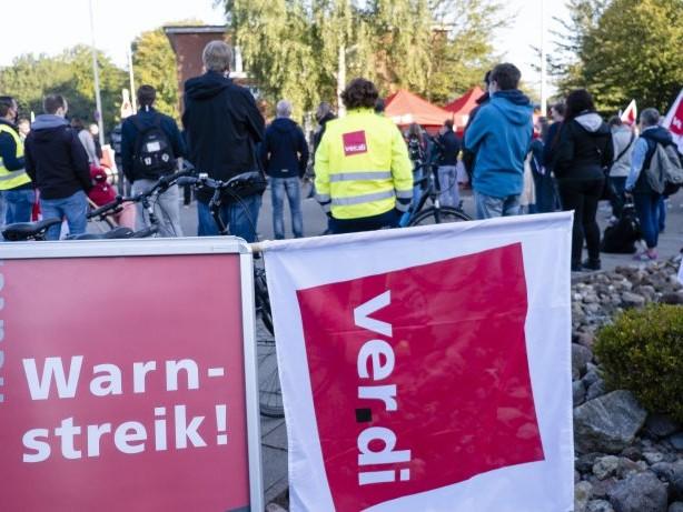 Ver.di: Warnstreiks im öffentlichen Dienst inSchleswig-Holstein