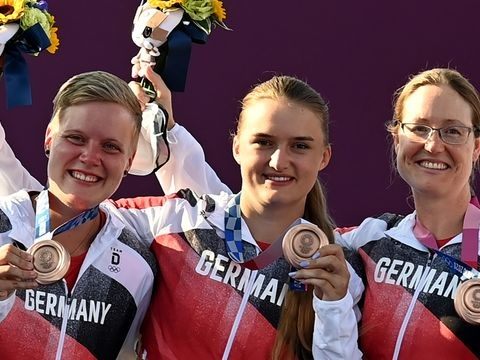 Olympia: Bogenschützinnen feiern nach Volltreffer Team-Bronze