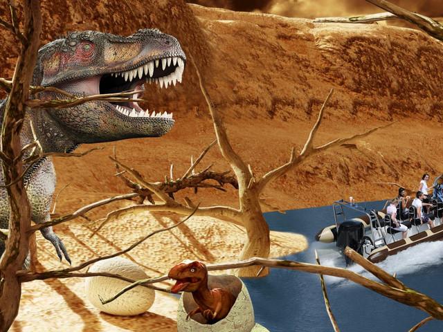 Serengeti-Park 2018: Mit Neuheiten ins Reich der Dinosaurier und auf actionreiche Speedboat-Tour!