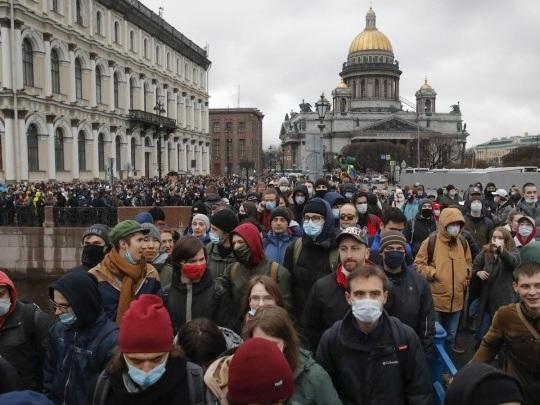 Russland - Fast 1.800 Festnahmen bei Kundgebungen für Kreml-Kritiker Nawalny