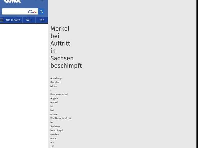 Merkel bei Auftritt in Sachsen beschimpft