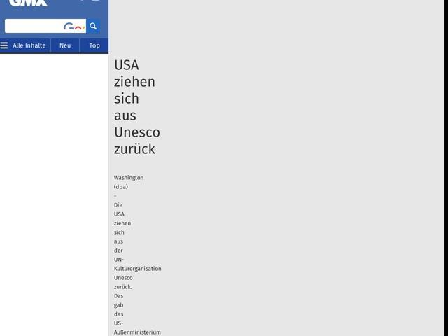 USA ziehen sich aus Unesco zurück