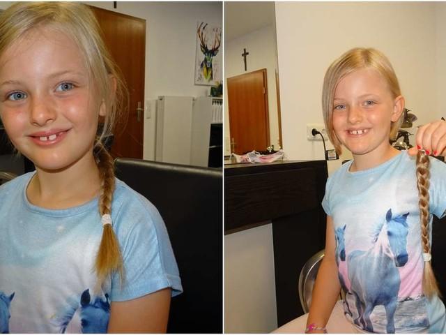 Mädchen (7) zeigt großes Herz - Zopf an Krebshilfe gespendet