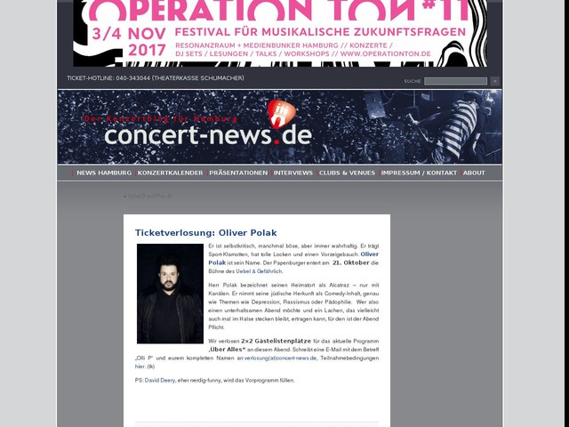 Ticketverlosung: Oliver Polak