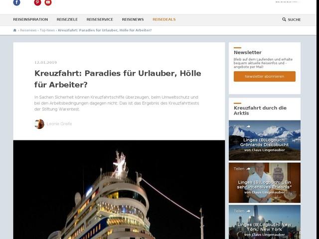 Kreuzfahrt: Paradies für Urlauber, Hölle für Arbeiter?