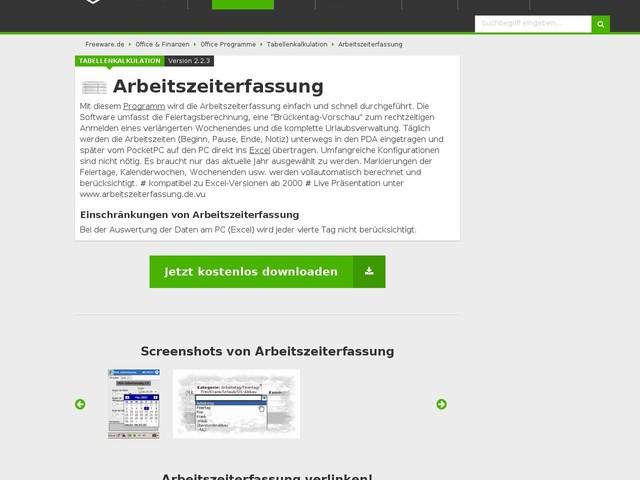 Arbeitszeiterfassung Download | Freeware.de