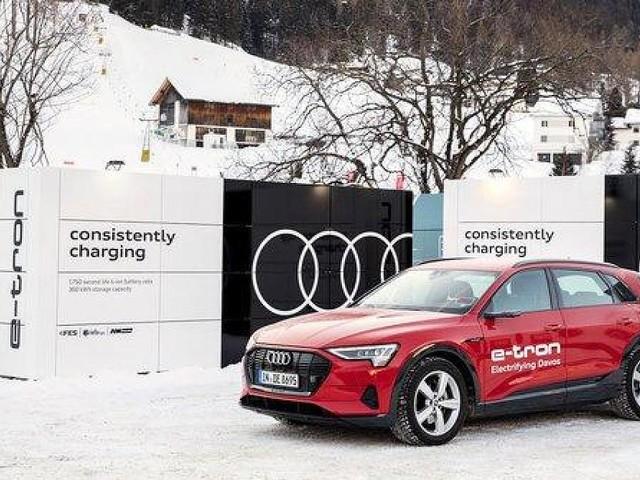 Gebrauchte Akkus neu genutzt - Audi elektrisiert Weltwirtschaftsforum und entwickelt mobile Ladecontainer
