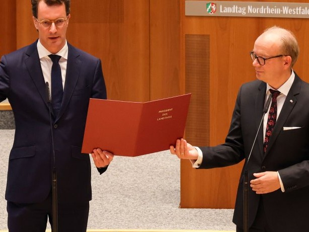 Landtag NRW: Hendrik Wüst zum neuen NRW-Ministerpräsidenten gewählt