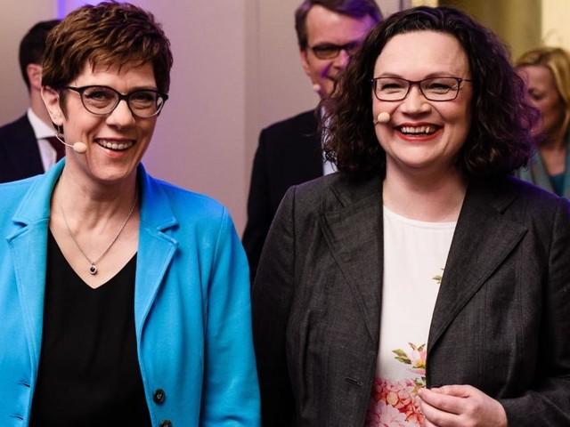 """AKK und Nahles : """"Wir irritieren regelmäßig"""""""