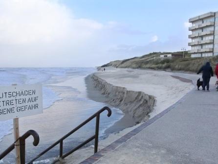 Badestrand auf Wangerooge fast komplett weggespült