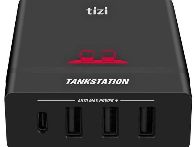 tizi zeigt 75-Watt-Tankstation mit USB-C und USB-A