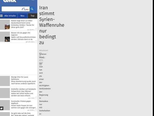 Iran stimmt Syrien-Waffenruhe nur bedingt zu