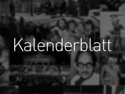 Was geschah am ... - Kalenderblatt 2019: 17. September