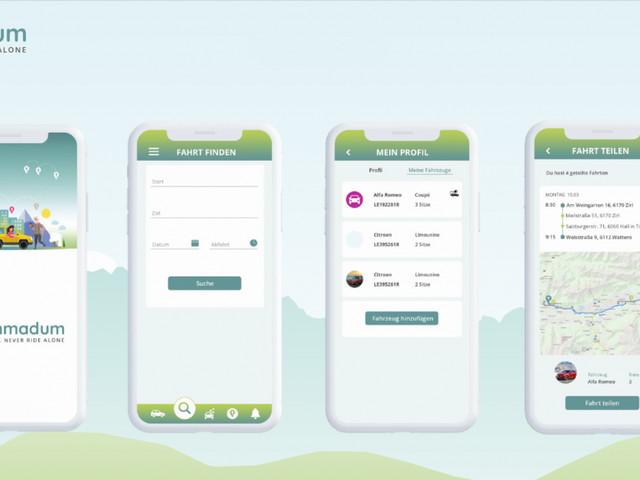 Mitfahr-App ummadum: Ab 2020 österreichweit verfügbar