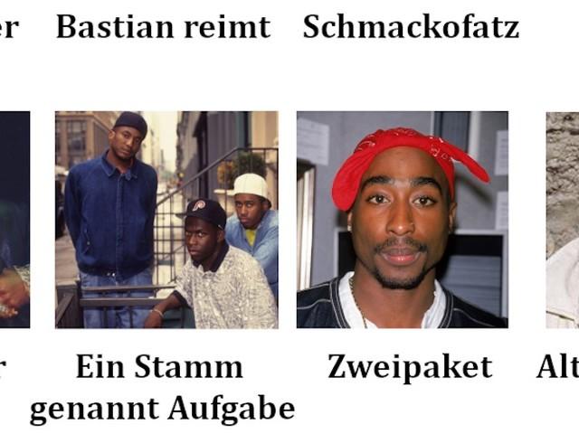 Die deutschen Namen der internationalen Rap-Elite