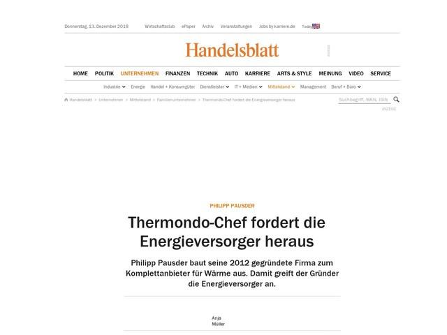 Philipp Pausder: Thermondo-Chef fordert die Energieversorger heraus