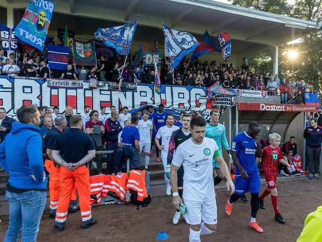 Souverän in die zweite Pokalrunde: Der KFC Uerdingen war kurz zu Hause