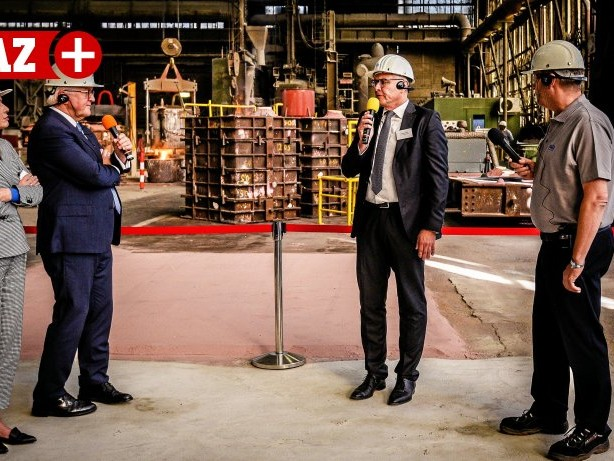 Präsidentenbesuch: Bundespräsident Steinmeier besucht Mülheimer Wilhelms-Hütte