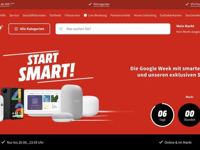 """Pixel und Co.: Google-Angebote bei MediaMarkt/Saturn in der """"Google Week"""""""