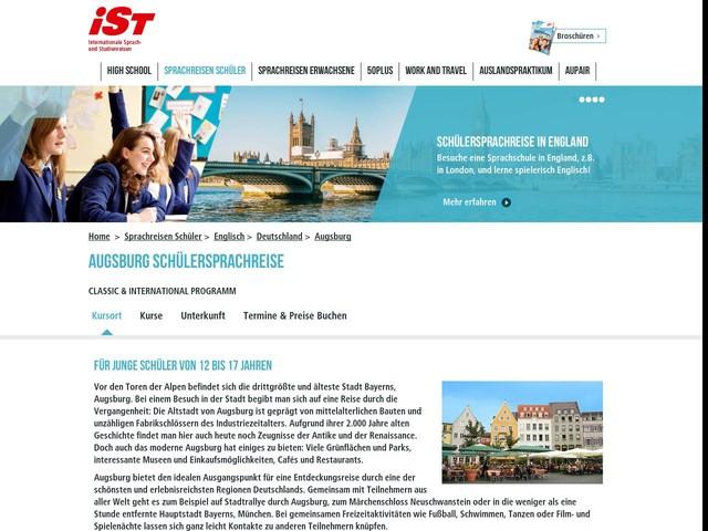 Sprachreise nach Augsburg für Schüler – Sprachreisen mit iSt