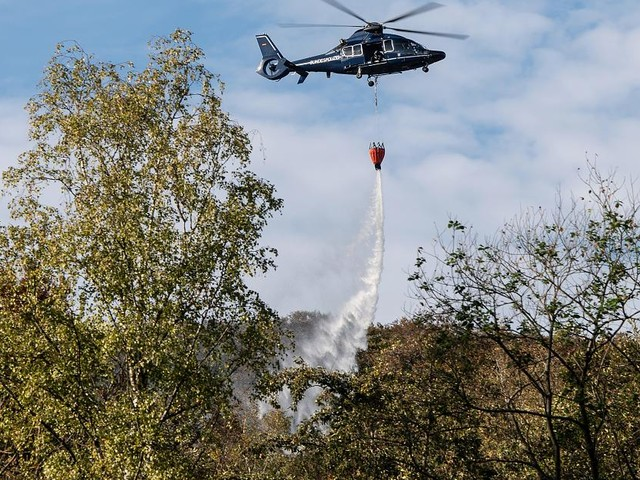 Feuer wieder aufgeflammt - Großer Waldbrand in Thüringen: Landrat ruft Katastrophenfall aus