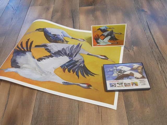 Aquarelle als Drucke auf Hahnemühlepapier und als Kunstkarten