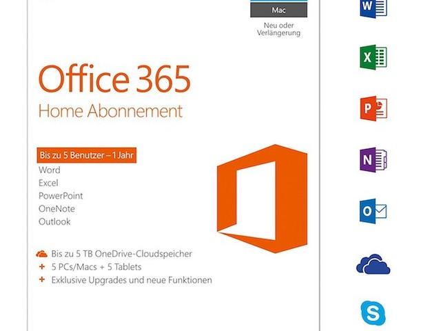 Microsoft Office 365 Home nur heute für 55 Euro
