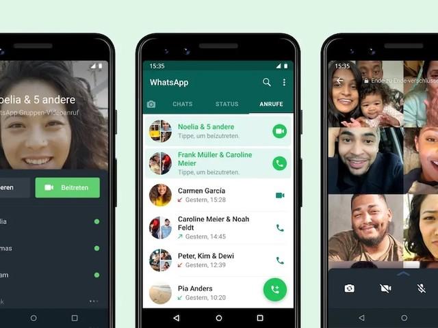 WhatsApp: Nutzer können jetzt zu WhatsApp Gruppenanrufen dazustoßen
