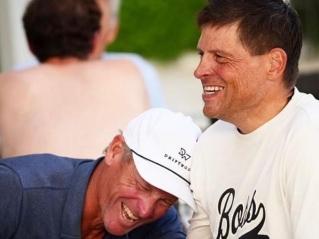 """Legendäre Radsport-Rivalen: """"Bin so stolz auf dich, Champ"""": Armstrong trifft Ullrich – die Bilder des emotionalen Wiedersehens"""
