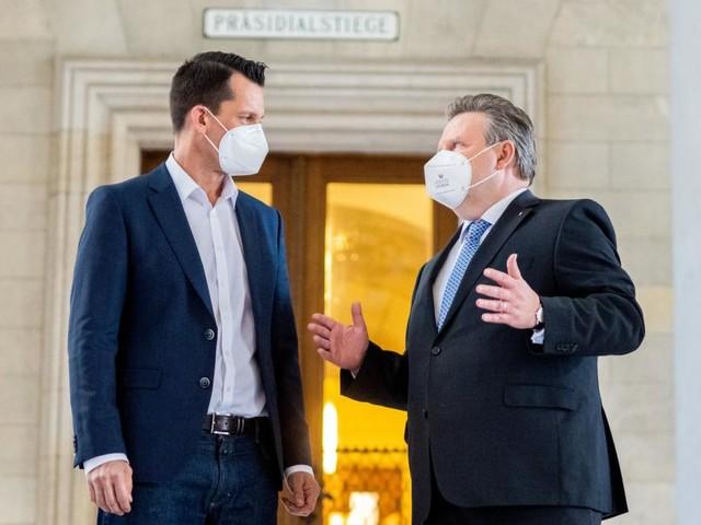Mückstein absolvierte Arbeitsbesuch bei Wiens Bürgermeister