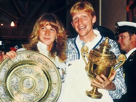 Als Steffi Graf und Boris Becker gemeinsam in Wimbledon siegten