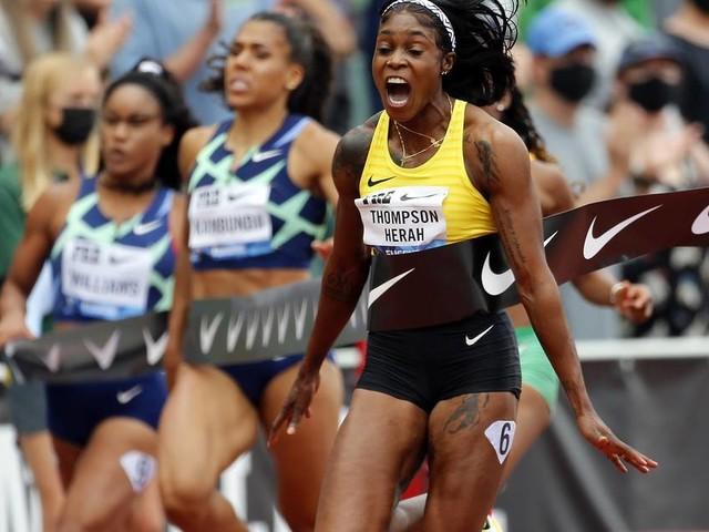 Schneller als bei Olympia: Thompson-Herah schrammt am 100-Meter-Weltrekord vorbei