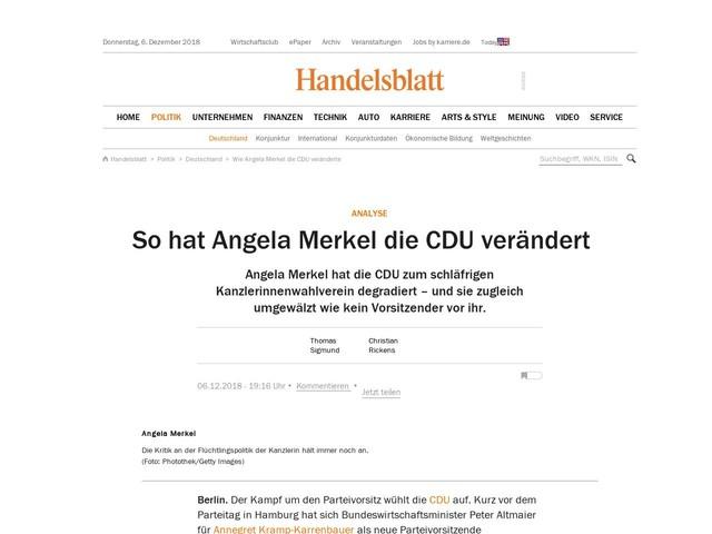 Analyse: So hat Angela Merkel die CDU verändert