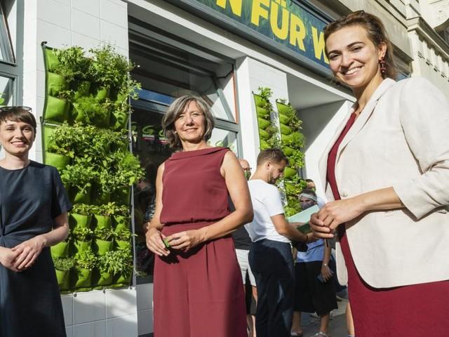 """Und schon wieder ein grünes Pop-up: Wahlkampf-""""Store"""" eröffnet"""