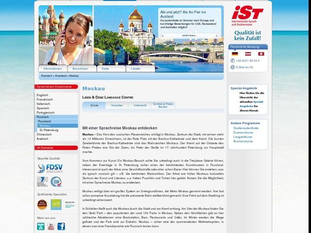 Sprachreise Sprachreise Moskau für Erwachsene - iSt - Sprachreisen für Erwachsene