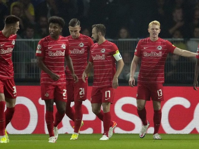 Jubel in Bröndby: Salzburg fixiert den Champions-League-Hattrick