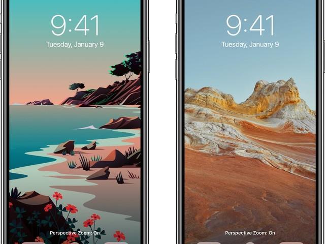 iOS 14.2 mit neuen fotorealistischen und gezeichneten Hintergrundbildern