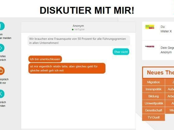 Diskutier Mit Mir: Chat zur Bundestagswahl