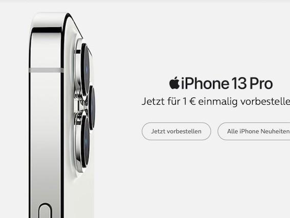 Nur 1 Euro: iPhone 13 (Pro) bei o2