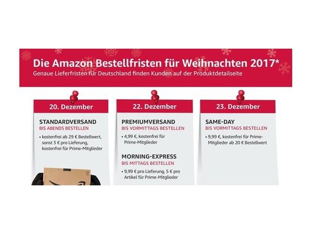 Amazon: Damit das Geschenk noch pünktlich ankommt