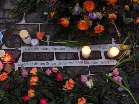 Jahrestag der Zerstörung: Stilles Gedenken in Dresden