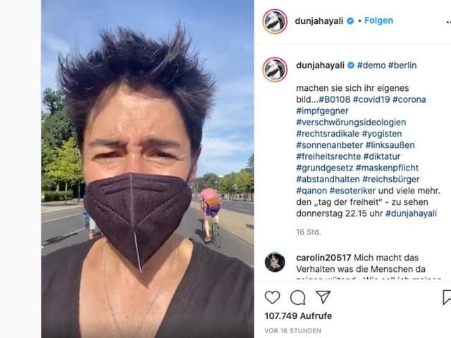 Dunja Hayali bricht Dreh bei Protest gegen Corona-Auflagen ab