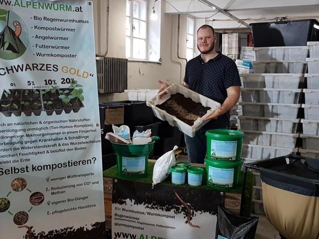 "Gefräßiger ""Alpenwurm"" ist Kompost-Star"