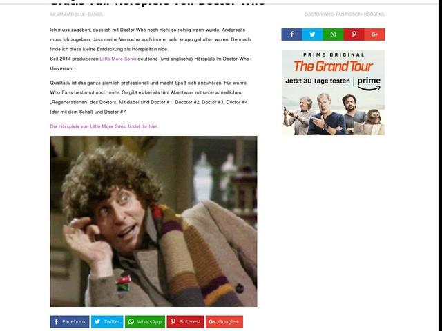 Gratis-Fan-Hörspiele von Doctor Who