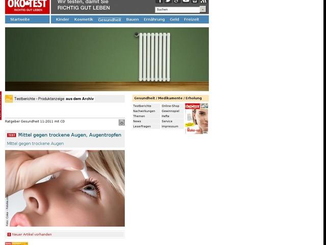 Mittel gegen trockene Augen, Augentropfen - ÖKO-TEST Online - www.oekotest.de